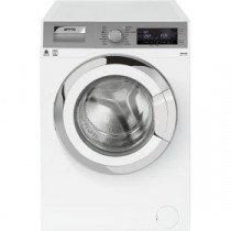 Smeg WHT814LSES lavadora Independiente Carga frontal Plata, Blanco 8 kg 1400 RPM A+++