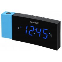 Sunstech FRDP3 radio Reloj Digital Negro, Azul