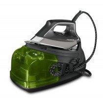 Rowenta DG8626F0 estación plancha al vapor 2400 W 1,1 L Microsteam 400 HD Laser soleplate Negro, Verde, Plata