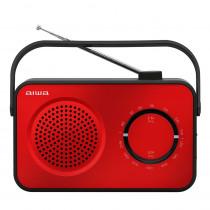 Aiwa R-190RD radio Portátil Analógica Negro, Rojo