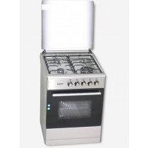 ROMMER VCH 606 FG INOX cocina Cocina independiente Plata Encimera de gas