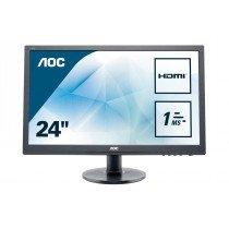 "AOC Essential-line E2460SH pantalla para PC 61 cm (24"") Full HD LCD Plana Mate Negro"