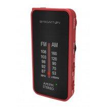 Brigmton BT-224 radio Portátil Analógica Negro, Rojo