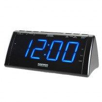 Daewoo DCR-49 radio Reloj Digital Negro