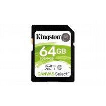 Kingston Technology Canvas Select memoria flash 64 GB SDXC Clase 10 UHS-I