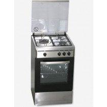 ROMMER VCH 356 X FG cocina Cocina independiente Plata, Acero inoxidable Encimera de gas