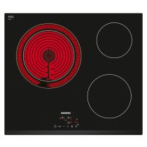 Siemens ET631BK17E hobs Negro Built-in (placement) Cerámico 3 zona(s)