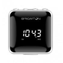 Brigmton BT-125-B radio Personal Digital Negro, Blanco