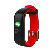 "Brigmton BSPORT-15 Wristband activity tracker 0.96"" OLED Inalámbrico IP67 Negro, Rojo"