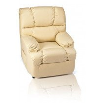 SILLON JDR RECLIN. MANUAL PU BEIGE