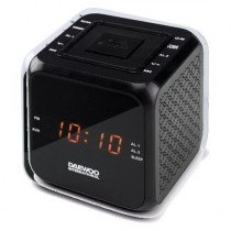 RADIO DESPERTADOR DAEWOO DCR-450B NEGRO