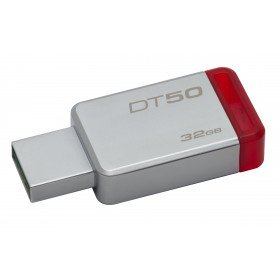 Kingston Technology DataTraveler 50 32GB unidad flash USB USB tipo A 3.0 (3.1 Gen 1) Rojo, Plata