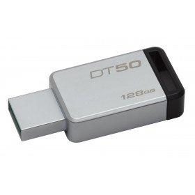 Kingston Technology DataTraveler 50 128GB unidad flash USB USB tipo A 3.0 (3.1 Gen 1) Negro, Plata