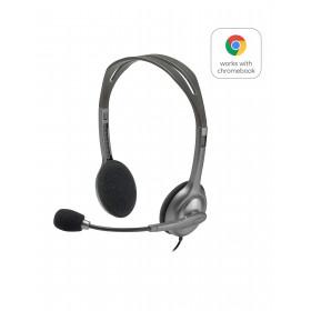 Logitech H110 Stereo Headset Auriculares Diadema Conector de 3,5 mm Gris